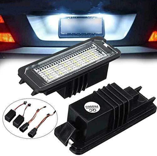 VLAND 2PCS 18SMD LED Kennzeichenbeleuchtung Lampen mit Canbus Fehlerfrei für Golf 4 MK 5 MK 6 MK 7 Polo 6R Scirocco