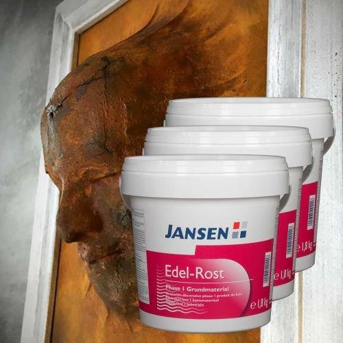 3 x Jansen Edel-Rost Phase I Grundmaterial 1,8kg