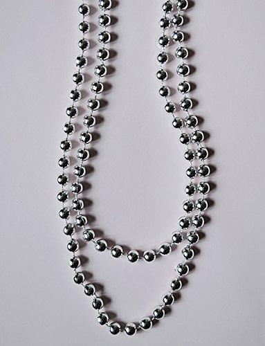 Glänzend-silberne Perlen-Kette