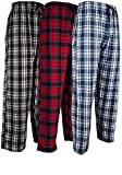 1. Andrew Scott Men's 3 Pack Cotton Flannel Fleece Brush Pajama Sleep & Lounge Pants (Large / 36-38, 3 Pack - Classic Flannel Assorted Plaids)