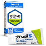 Shingles Treatment Cream - 3X Triple Action Patented Natural Formula for Herpes Zoster Outbreaks Causing Painful Rash and Nerve Pain by Terrasil - 45gm