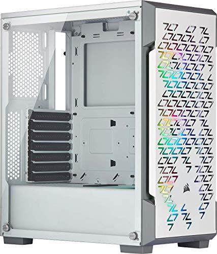 Corsair iCUE 220T RGB Airflow Gehärtetes Glas Mid-Tower ATX Smartes Gaming Gehäuse, weiß