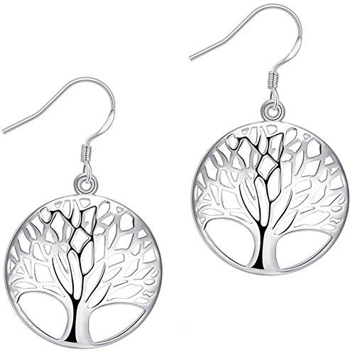 AMBESTEE Tree of Life Earrings,Fashion Jewelry Sterling...