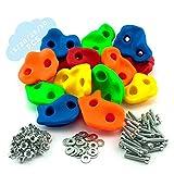 GO!elements Presas de Escalada Kids Set Outdoor Incl. Material de Fijación | Piedras de Escalada...