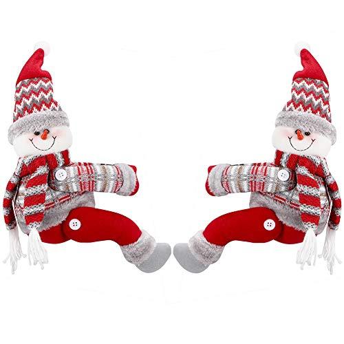YUIP 2 PCS Weihnachtsvorhangschnalle,Weihnachts-Vorhangschnalle,Weihnachtsverzierung,3D süßer Schneemann Vorhang Schnalle Clip Raffhalter für Frohe Weihnachtsfensterdekoration Drinnen