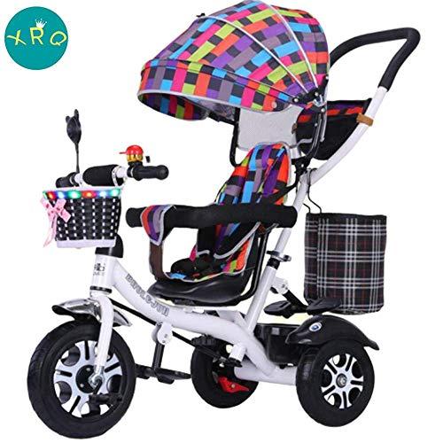 JLYLY Asiento Puede Girar Triciclo De Niños con Bell Cochecito De Bicicletas 1-6 Años Cochecito Al Aire Libre Juguetes De Cinco Puntos del Cinturón De Seguridad
