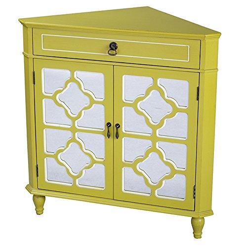 Heather Ann Creations Modern 2 Door Corner Cabinet with...