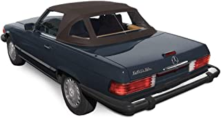 Compatible With: Mercedes R107 280SL 560SL 380SL 450SL Convertible Soft top 1972-89 BROWN Stayfast Cloth (Brown Stayfast)