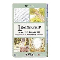 2021年 1月始まり コンパクト システム手帳リフィル リーダーシップ 1日2ページ(英語版)