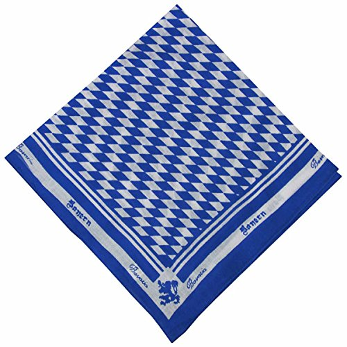 German Wear German Wear Halstuch Trachtentuch bayrisches Bandana Muster, Dunkelblau