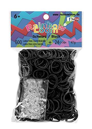 Rainbow Loom 22024 - Gummibänder, 600, schwarz