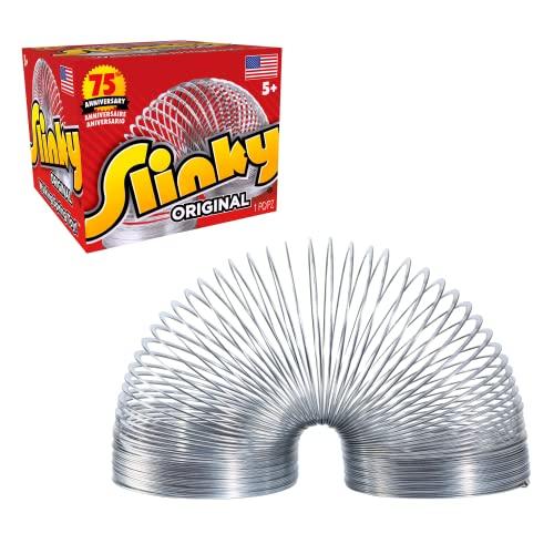 The Original Slinky Walking Spring Toy, Metal Slinky, Fidget Toys,...