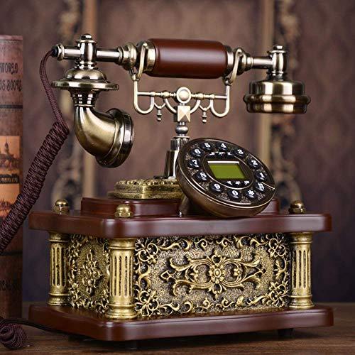 HYY-YY Fijo Vintage Creativo Teléfono Hogar Fijo Teléfono Identificador de llamadas para la decoración del hogar-A