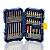 COMOWARE Impact Screwdriver Bit Set - S2 Alloy Steel, Screwdriver and Quick Rlease Bit Holder, Impact Driver Bit Set Total 33pcs