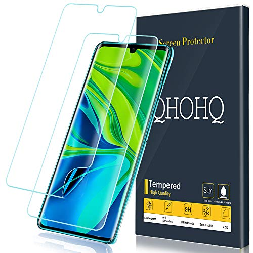 [2 Pack] QHOHQ Screen Protector for Xiaomi Mi Note 10,Xiaomi Mi Note 10 Pro, Soft TPU HD Clear Flexible Film [NOT Tempered Glass]