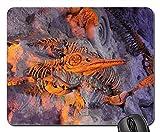 N\A Alfombrillas de ratón - Dinosaurio Animal Muerto arqueología Antigua Hueso Muerto