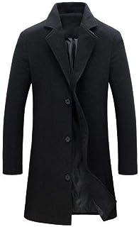 Autunno Inverno Cappotti da uomo Colore monopetto risvolto lungo cappotto giacca cappotto cappotto