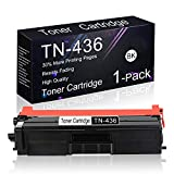 Compatible Toner Cartridge 1 Pack Black TN-436 Replacement for Brother HL-L9310CDW / L9310CDWT / L8360CDWT / L8260CDW, MFC-L8610CDW / L8900CDW / L9570CDW / L9570CDWT, DCP-L8410CDW Printers.