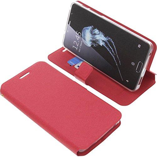 foto-kontor Tasche für Alcatel Flash Plus 2 Book Style rot Schutz Hülle Buch