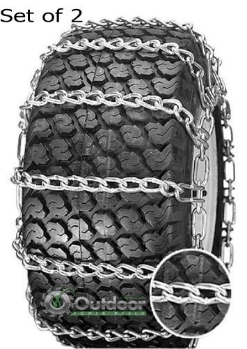 Outdoor Power Deals OPD tire Chains (Set of 2) 23x8.50-12 23x8.50x12 8X12 2-Link with Tighteners