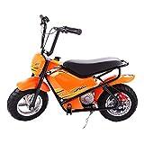 QHZ Motocicleta eléctrica para niños 24 V Coche eléctrico Poder Niño Niña Montar Juguete Motocicleta Scooter Vehículo Todo Terreno Entrenamiento Rueda Auxiliar Regalo 3-9 años