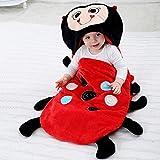 Lindo saco de dormir para bebés grueso cálido otoño e invierno recién nacido anti-patada invierno niño bebé saco de dormir edredón bebé edredón para dormir 80cm0-18 meses-ladybug_80cm bebé niños