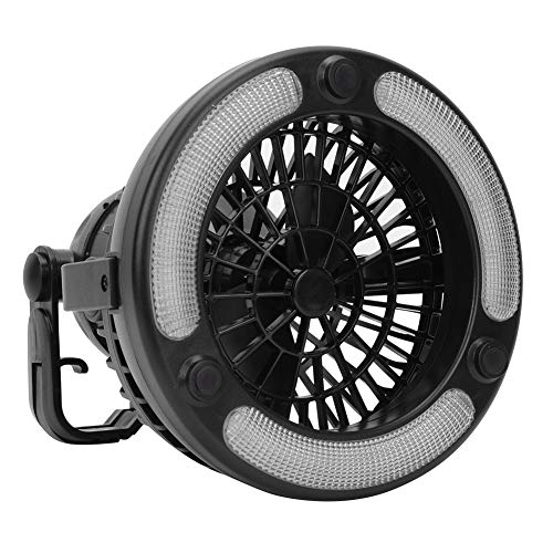 Weikeya Multifunción Cámping Ventilador Luz, Profesional Techo Ventilador Batería Hecho de Abdominales Marcar Clave