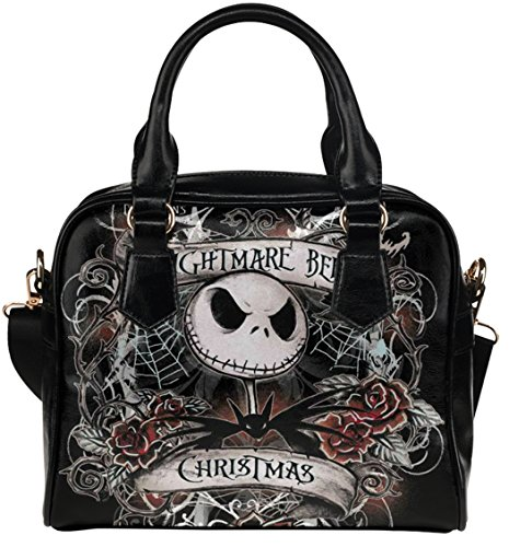 Women Shoulder Handbag Crossbody Bags with The Nigntmare Before Christamas Jack Pattern