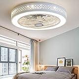 plafoniera FHW TDLL Moderno LED Ventilatore a Soffitto con Luce e Telecomando Silenzioso Ventilatori...