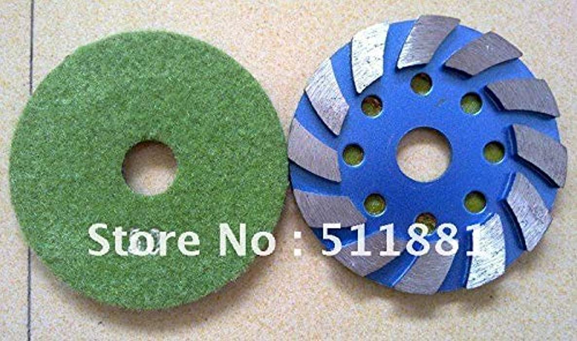 Maslin 4'' NCCTEC Metal Snip Notches Grinding pad | 100mm concrete stone floor renovation Diamond disk | easy to paste