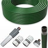 All4You Gartenschlauch Wasserschlauch Schlauch Set 1/2' Zoll 50m mit Armaturen Grün
