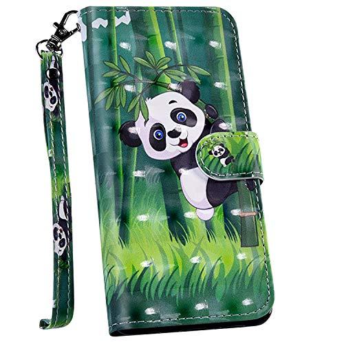 Handyhülle kompatibel mit Sony Xperia 1 Hülle, Ysimee Bookstyle PU Leder Schutzhülle Wallet Flip Ledertasche Case Lederhülle [Standfunktion] [Kartenfach], Panda