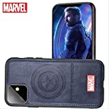 Marvel Avengers Cell Phone Case Protective for iPhone 11, Cotton Plush Case for Marvel Avengers Comic Super Hero Inspired Series 3D Premium Scratch-Resistant (BCaptain, iPhone11)