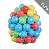 1000 Stück HSM Bälle für Pop Up Bällebad Spielhaus Kinderzelt Baby Spielzelt Babypool ø 5,5 cm