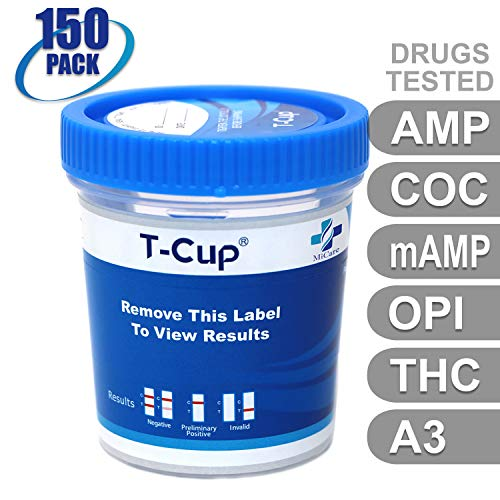 Best Review Of MiCare [150pk] - 5-Panel Multi Drug Test Cup (AMP/COC/mAMP/OPI/THC with A3) #MI-TDOA-...