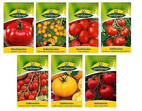 7 variedades | Surtido de semillas de tomate | a