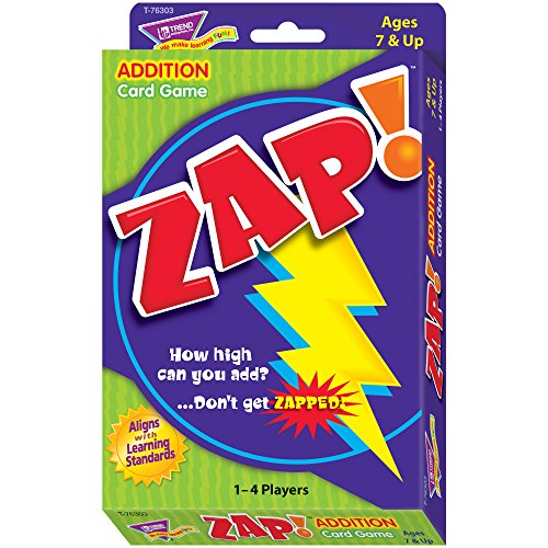 Zap Math Card Game, Ages 7 and Up