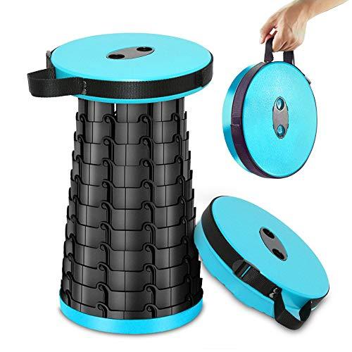 GNEGNI Hocker Klappbar campinghocker Stuhl Tragbarer Faltbar Stuhl Mini klapphocker leicht für Camping Wandern Angeln - Blau