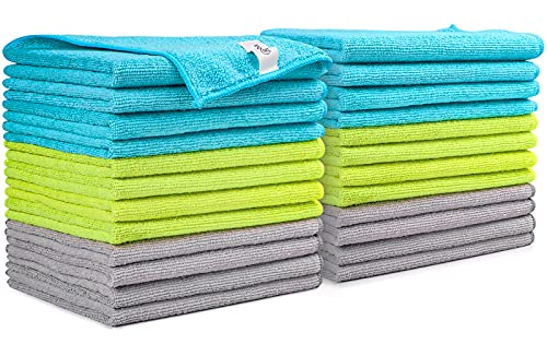 AIDEA Microfiber Cleaning Cloths-24Pack, Softer Highly Absorbent, Lint Free Streak Free for House, Kitchen, Car, Window Gifts(12in.x16in.)