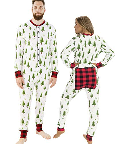 Lazy One Flapjacks, Matching Pajamas for The Dog, Baby & Kids, Teens, and Adults (Evergreen Plaid, Large)
