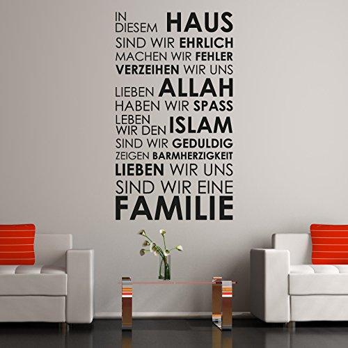 A460 | Meccastyle | Islamische Wandtattoos - In diesem Haus… - L - 65cm x 115cm- 02. Grau