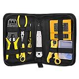 RJ45 RJ11 RJ12 CAT5 Cat5e Portable LAN Network Repair Tool Kit Utp Cable Tester AND Plier Crimp Crimper Plug Clamp PC RJ4512 TOOLS KIT