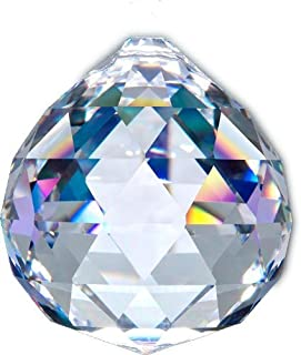 ASFOUR CRYSTAL 40mm Large Ball Prism Pendant Suncatcher