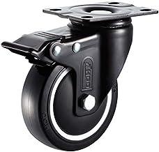 Zwenkwiel universeel wiel oriëntatie met rem wiellager wiel industrieel polyurethaan stuurwiel accessoires 4 stuks