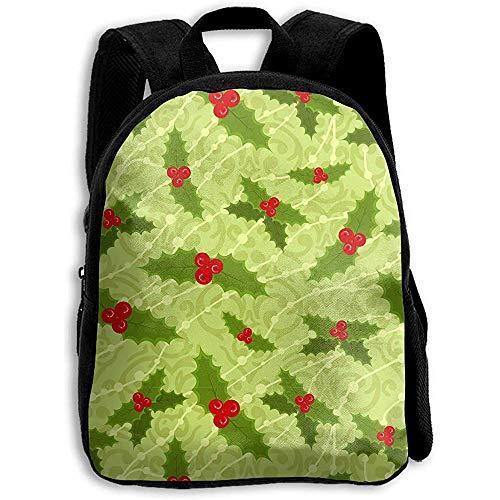 Zaino,Zaino Agrifoglio Verde Pianta Di Natale Verde, Zaino Da Scuola Zaino Divertente Per Adulti Che Si Arrampicano In Viaggio