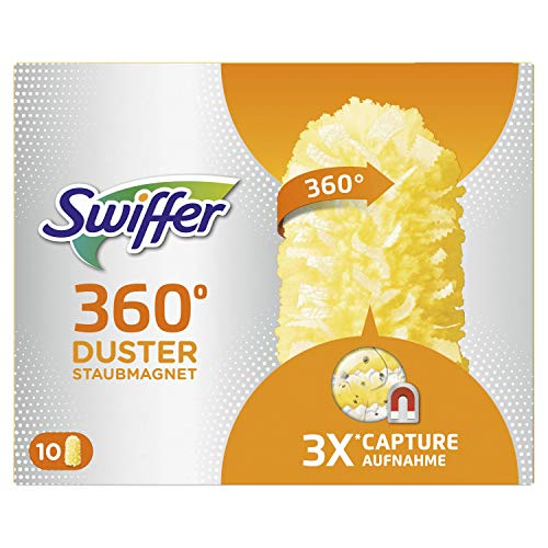 Swiffer-10 ricariche per piumino Duster 360, acchiappa la polvere e la trattiene