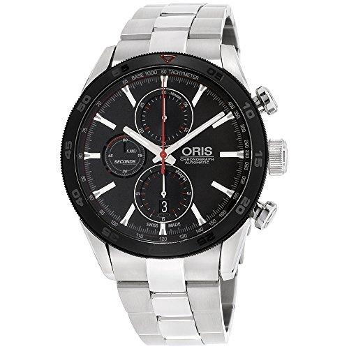 Oris Artix GT 77476614424MBXG - Reloj para hombre, esfera negra de acero inoxidable (reacondicionado)