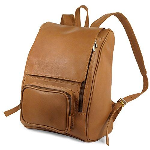 Großer Lederrucksack Größe L Laptop Rucksack bis 15,6 Zoll, für Damen und Herren, Cognac-Braun, Jahn-Tasche 711