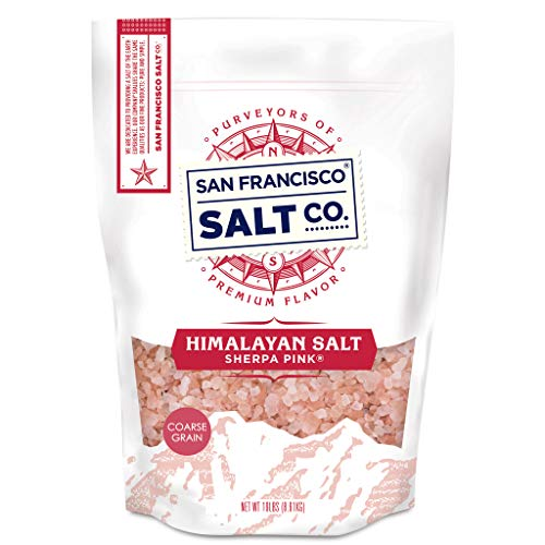 Sherpa Pink Himalayan Salt - 2 lb. Bag Coarse Grain - for Grinders and Salt Mills