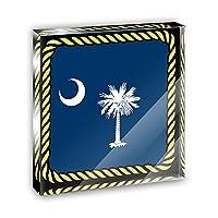 サウスカロライナ州状態フラグアクリルOffice MiniデスクプラークオーナメントPaperweight
